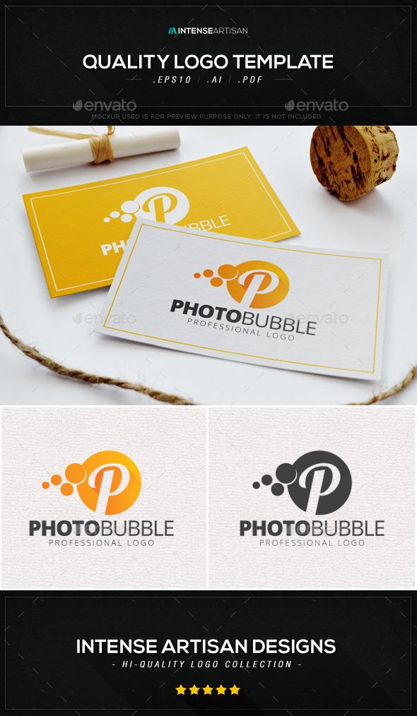 GraphicRiver Photo Bubble Letter P Logo Template 8883208