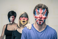 Excited people with European flags on faces - PhotoDune Item for Sale