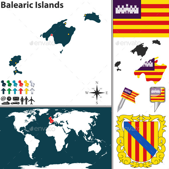 GraphicRiver Map of Balearic Islands 8885512