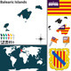 Map of Balearic Islands - GraphicRiver Item for Sale
