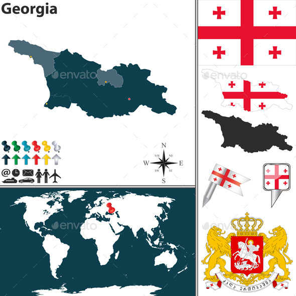 GraphicRiver Map of Georgia 8885521