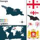 Map of Georgia - GraphicRiver Item for Sale