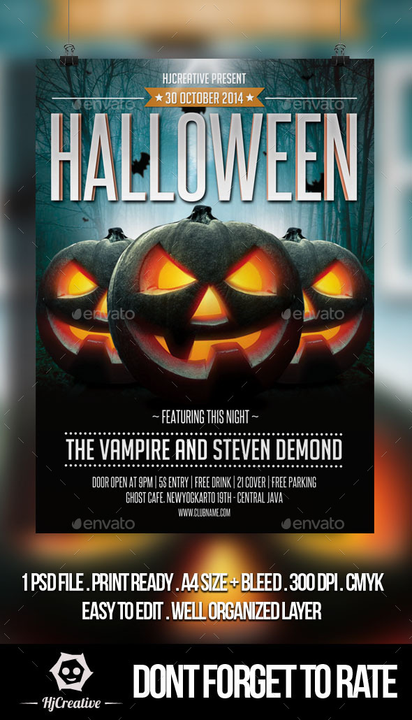 GraphicRiver Halloween Poster Flyer Template Vol 1 8885563