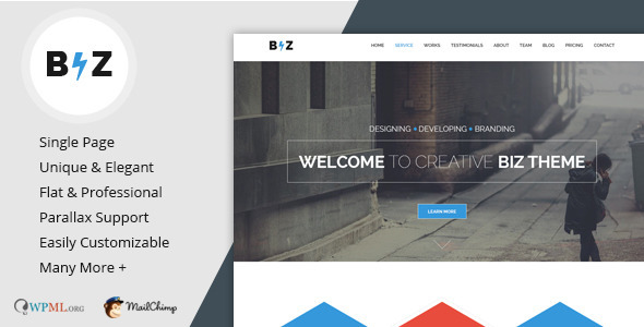 Biz - Multipurpose Business and Corporate Theme