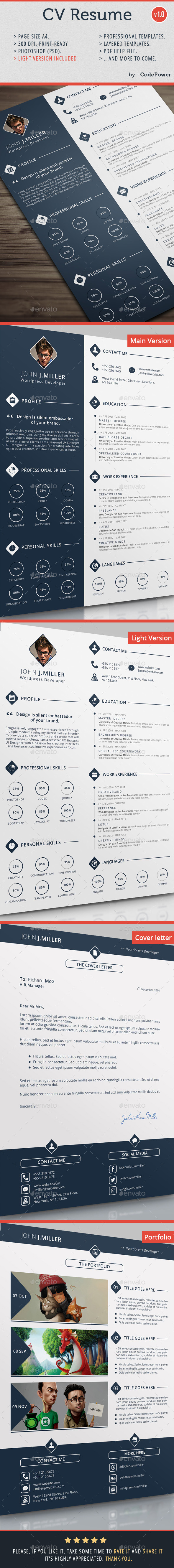 GraphicRiver CV Resume 8886019