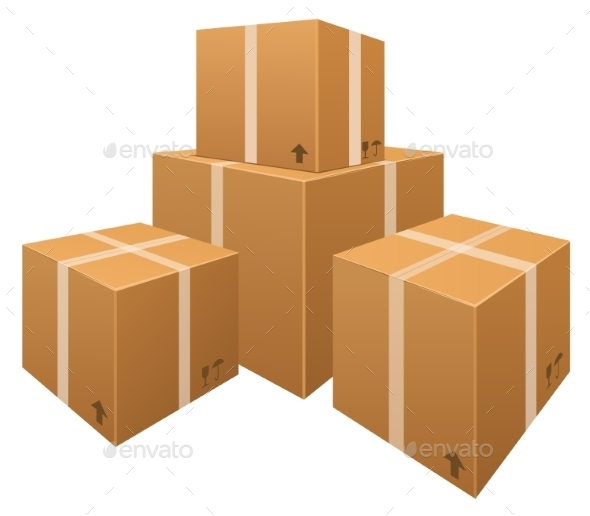 GraphicRiver Stacks of Cardboard Boxes 8886091