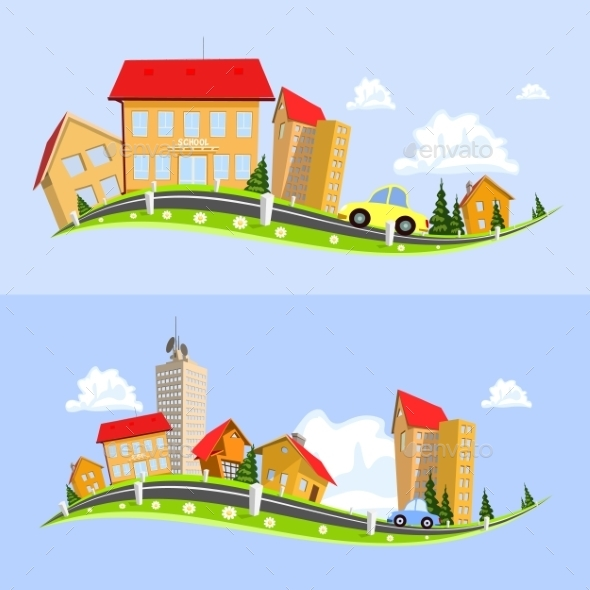 GraphicRiver Urban Landscape Vector Illustration 8886115