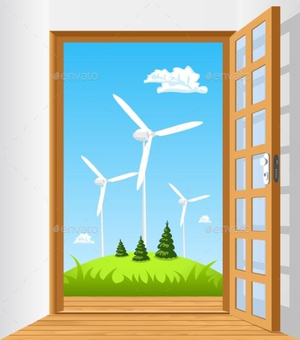 GraphicRiver Open the Door to Green Energy 8886119