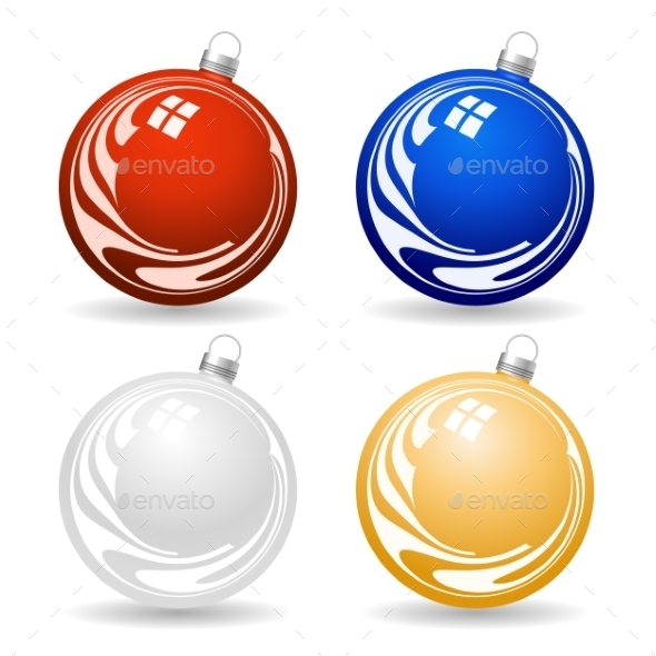 GraphicRiver Colorful Christmas Balls 8886126