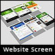 3d Website Screen Mockup - GraphicRiver Item for Sale