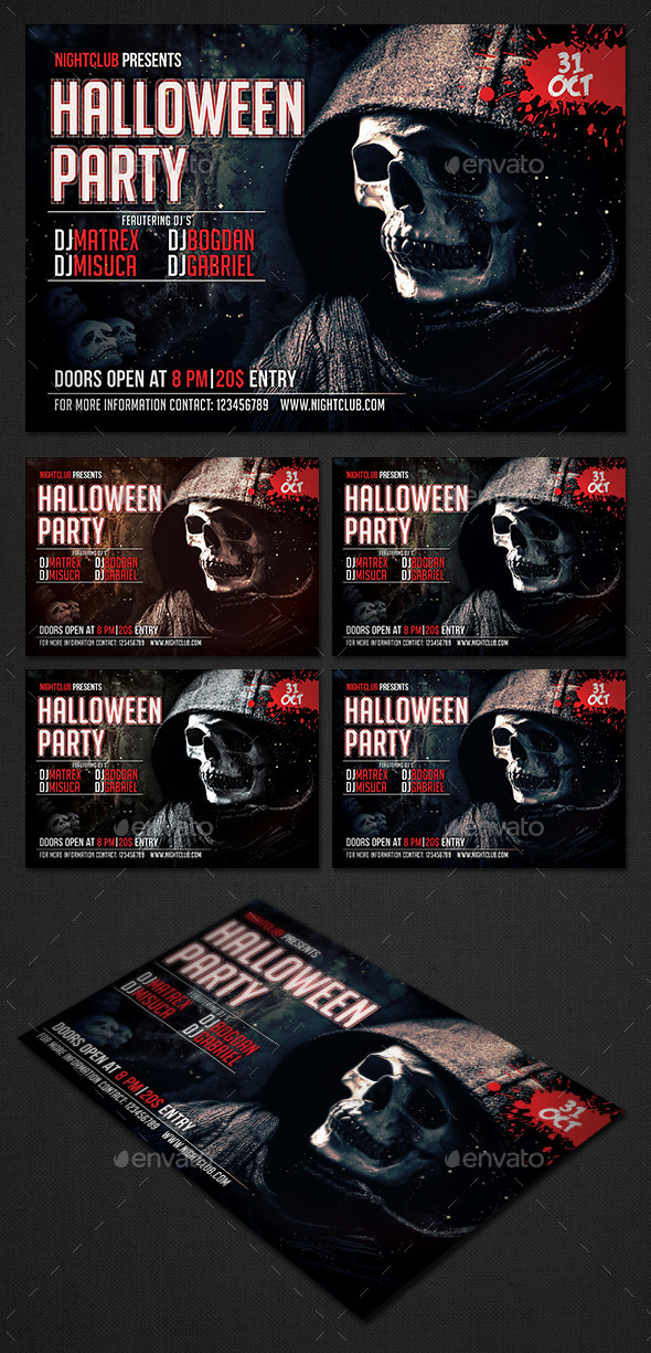 GraphicRiver Halloween Party Flyer 8886476