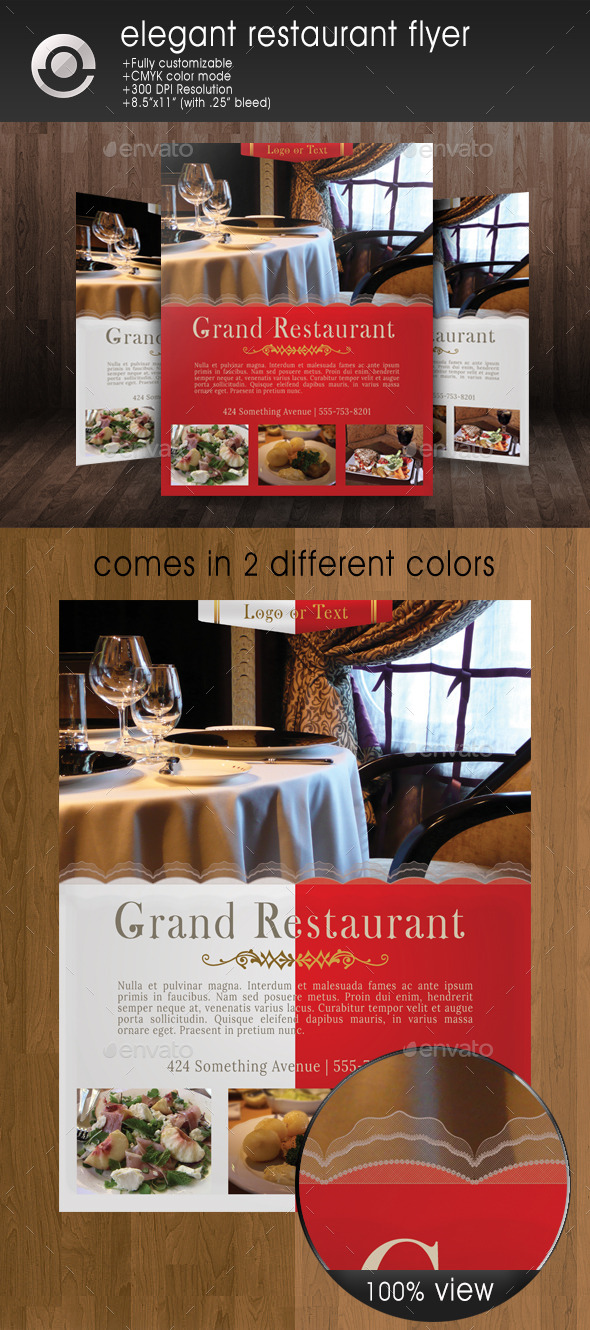 GraphicRiver Restaurant Flyer 8887199