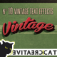 Vintage Retro Text Effects Vol. 1 - GraphicRiver Item for Sale