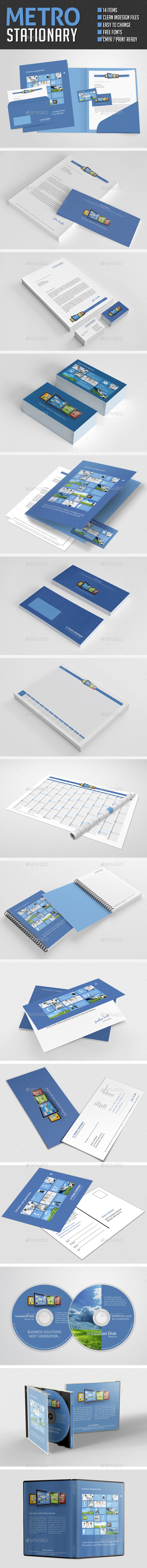 Metro Corporate Identity Stationary Pack - Stationery Print Templates