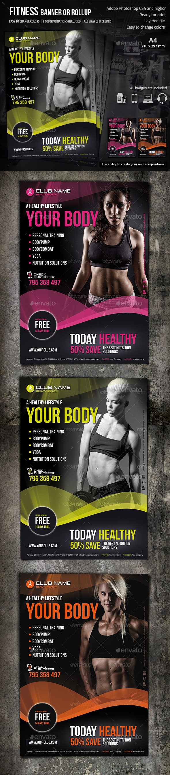 GraphicRiver Fitness Flyer 8883229