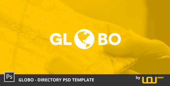 ThemeForest Globo Directory PSD Template 8887389