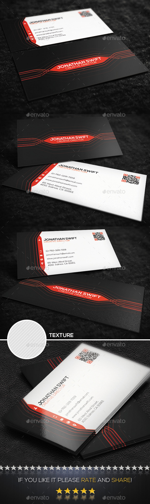 GraphicRiver Modern Personal Business Card No.01 8887490
