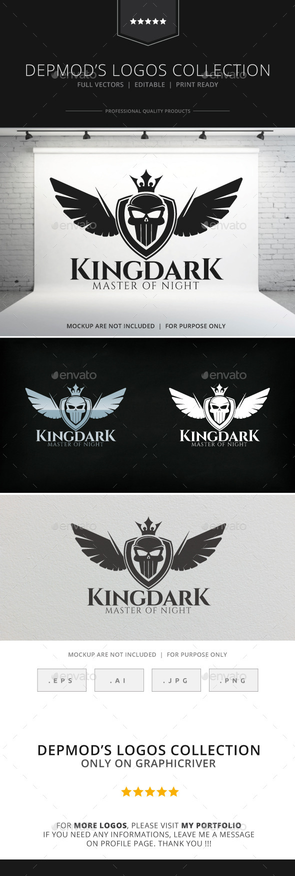 GraphicRiver King Dark Logo 8887506