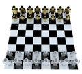 People in game chess board for teamwork