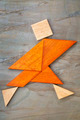 tangram running figure - PhotoDune Item for Sale