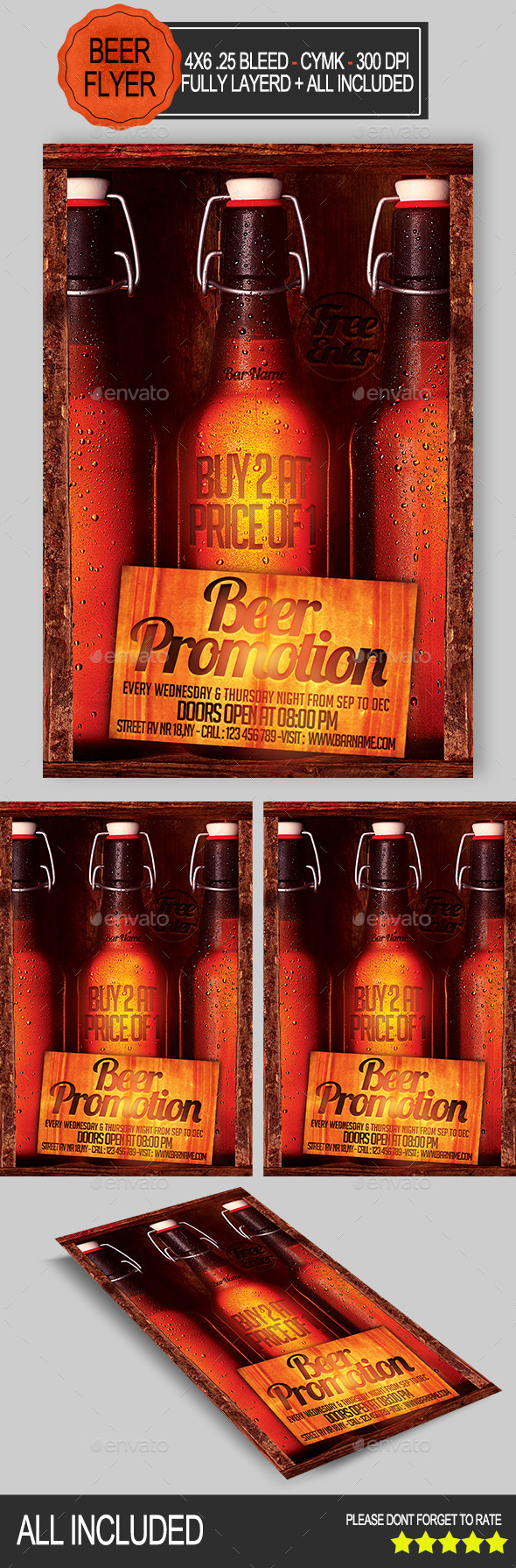 GraphicRiver Beer Promotion Flyer 8887530
