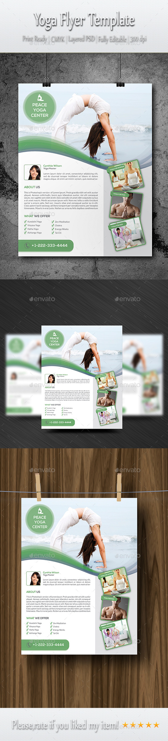GraphicRiver Yoga Flyer Template 8887641