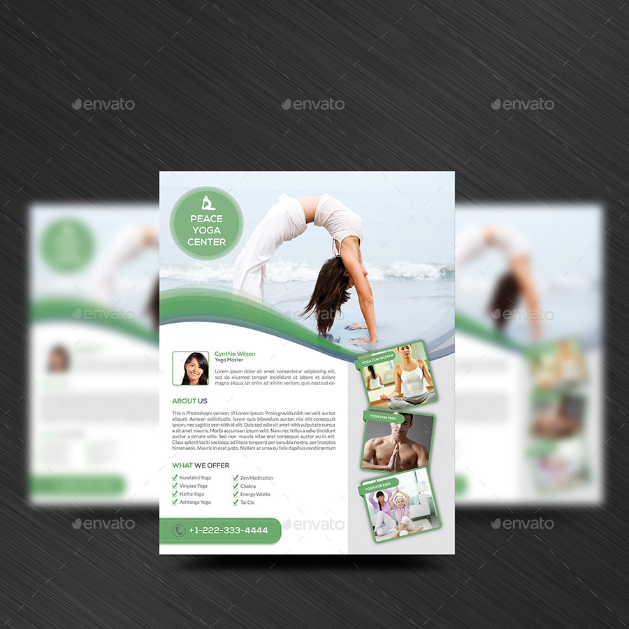 Yoga Flyer Template by Elitely – Yoga Flyer