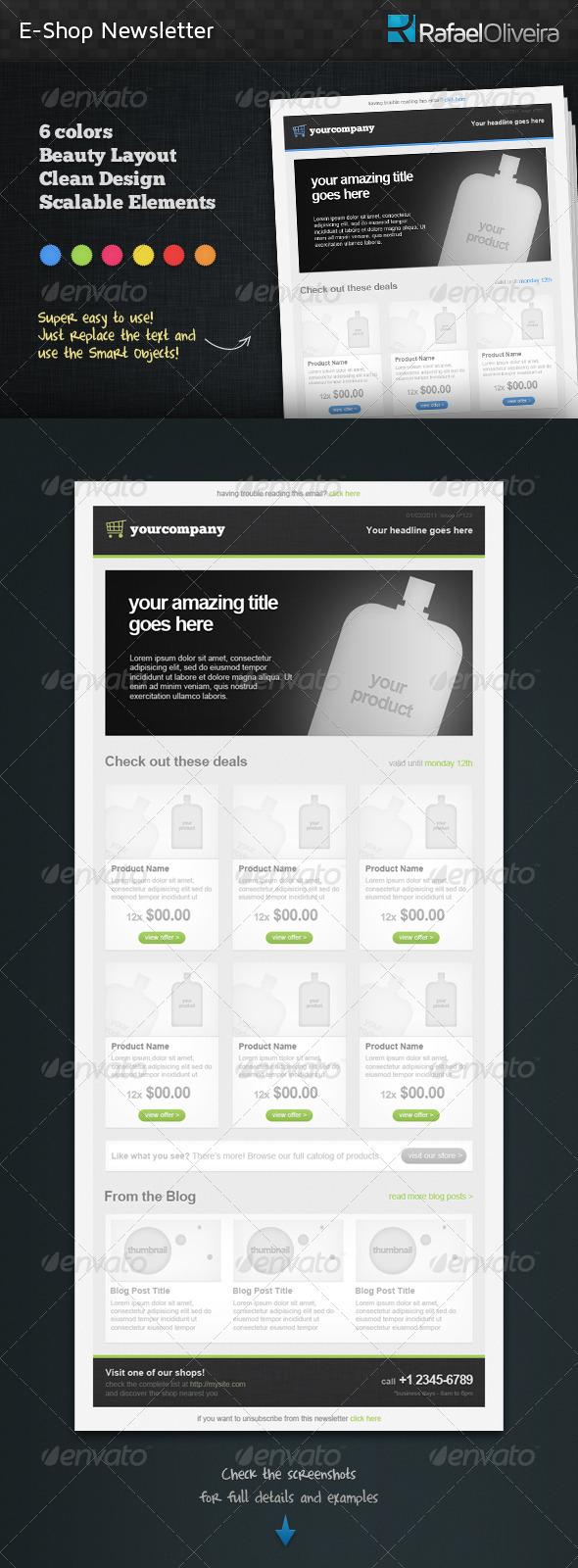 E-Shop Newsletter - E-newsletters Web Elements