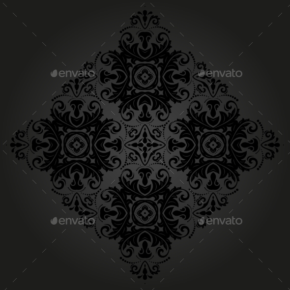 GraphicRiver Orient Vector Ornamental Round Lace 8887753