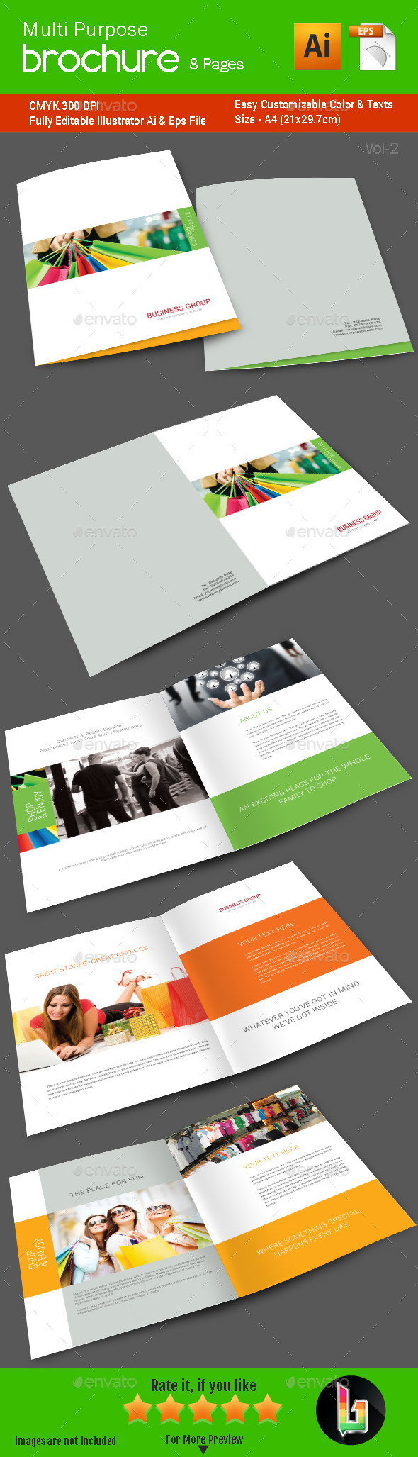 GraphicRiver Multi Purpose Brochure 8 Pages Vol2 8887757