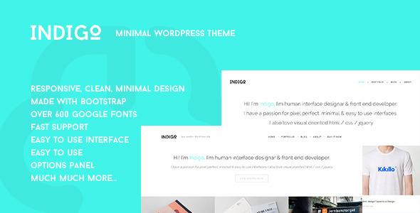 Indigo - Minimal Portfolio Theme - Creative WordPress