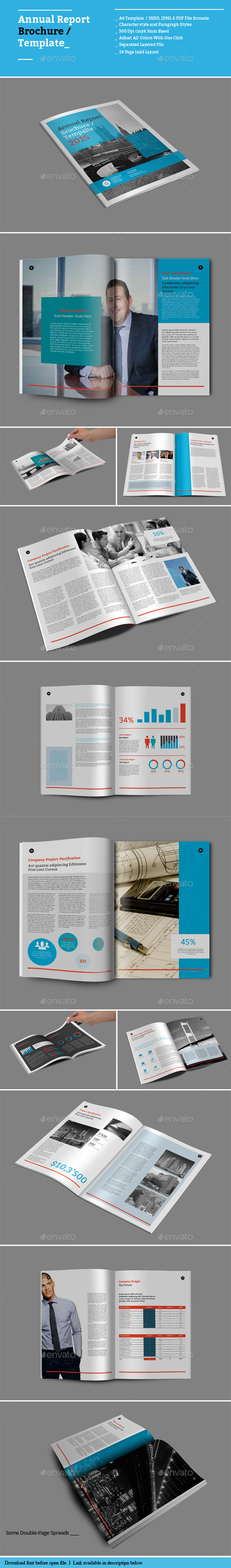 GraphicRiver Annual Report Brochure Templates 8888292