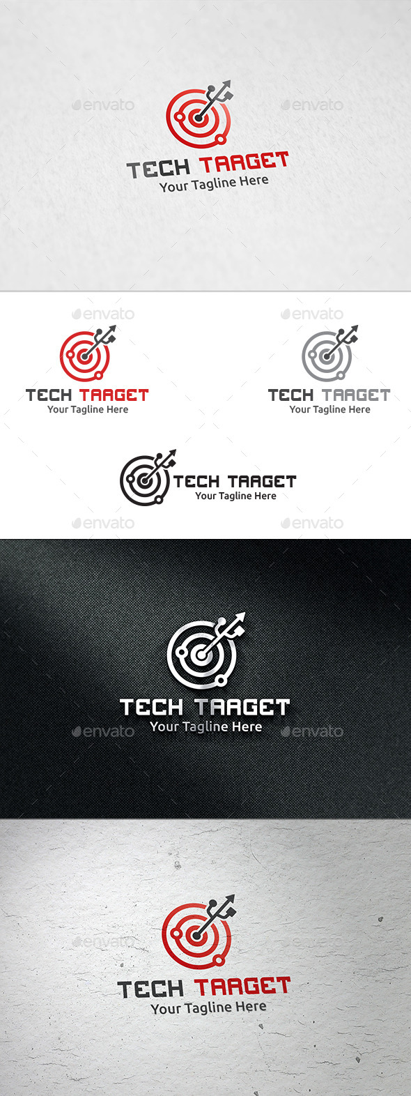 GraphicRiver Tech Target Logo Template 8888293