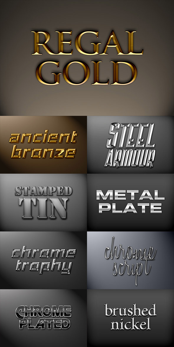 GraphicRiver Metal Photoshop Styles Pack 1 8888295