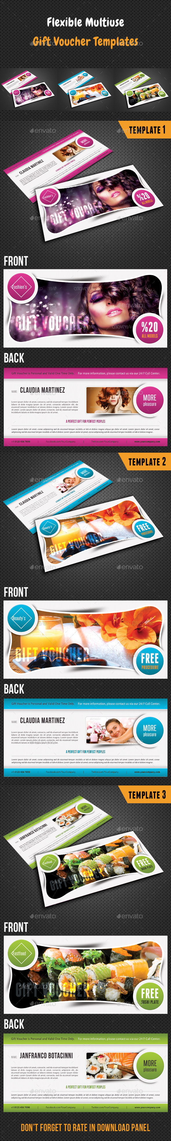 GraphicRiver Flexible Gift Voucher V02 8888359