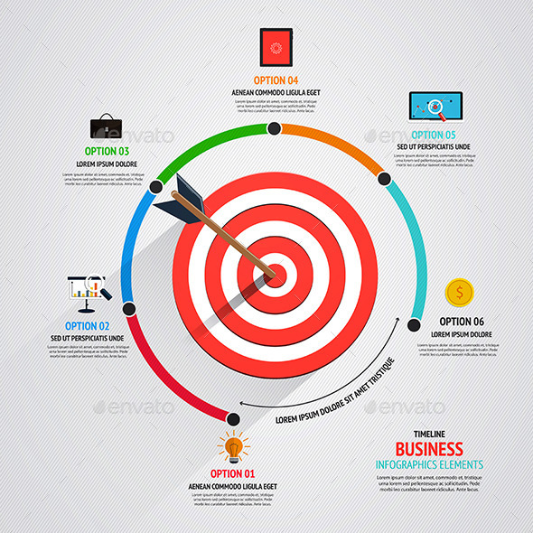GraphicRiver Business Target Marketing Concept 8882497