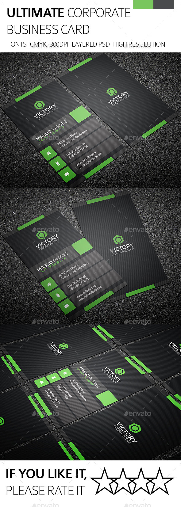 GraphicRiver Ultimate & Corporate Business Card 8888519