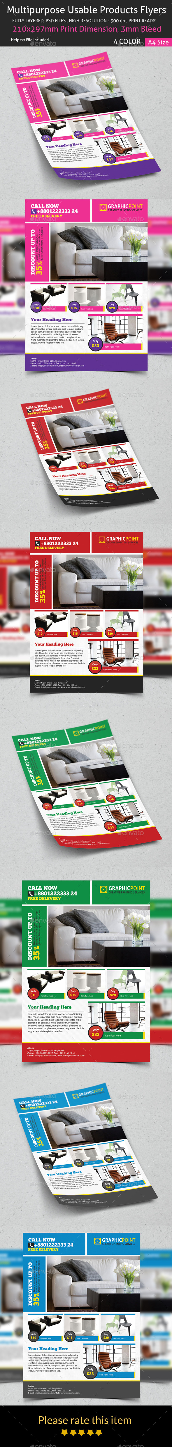 GraphicRiver Multipurpose Usable Products Flyers 8886005