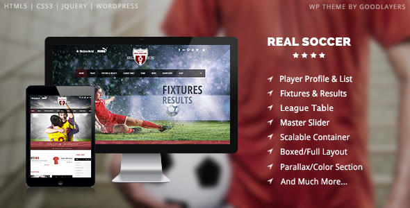 Real Soccer - Sport Clubs Responsive WP Theme