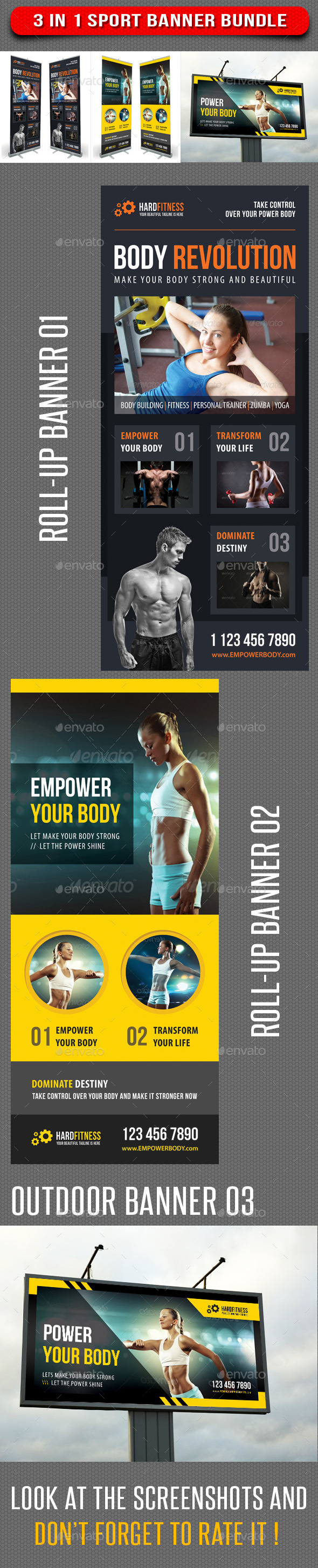 GraphicRiver 3 in 1 Sport Banner Bundle 05 8888590