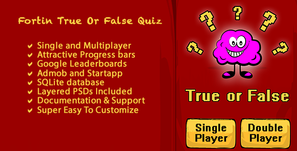 CodeCanyon Fortin True False Quiz 8888611