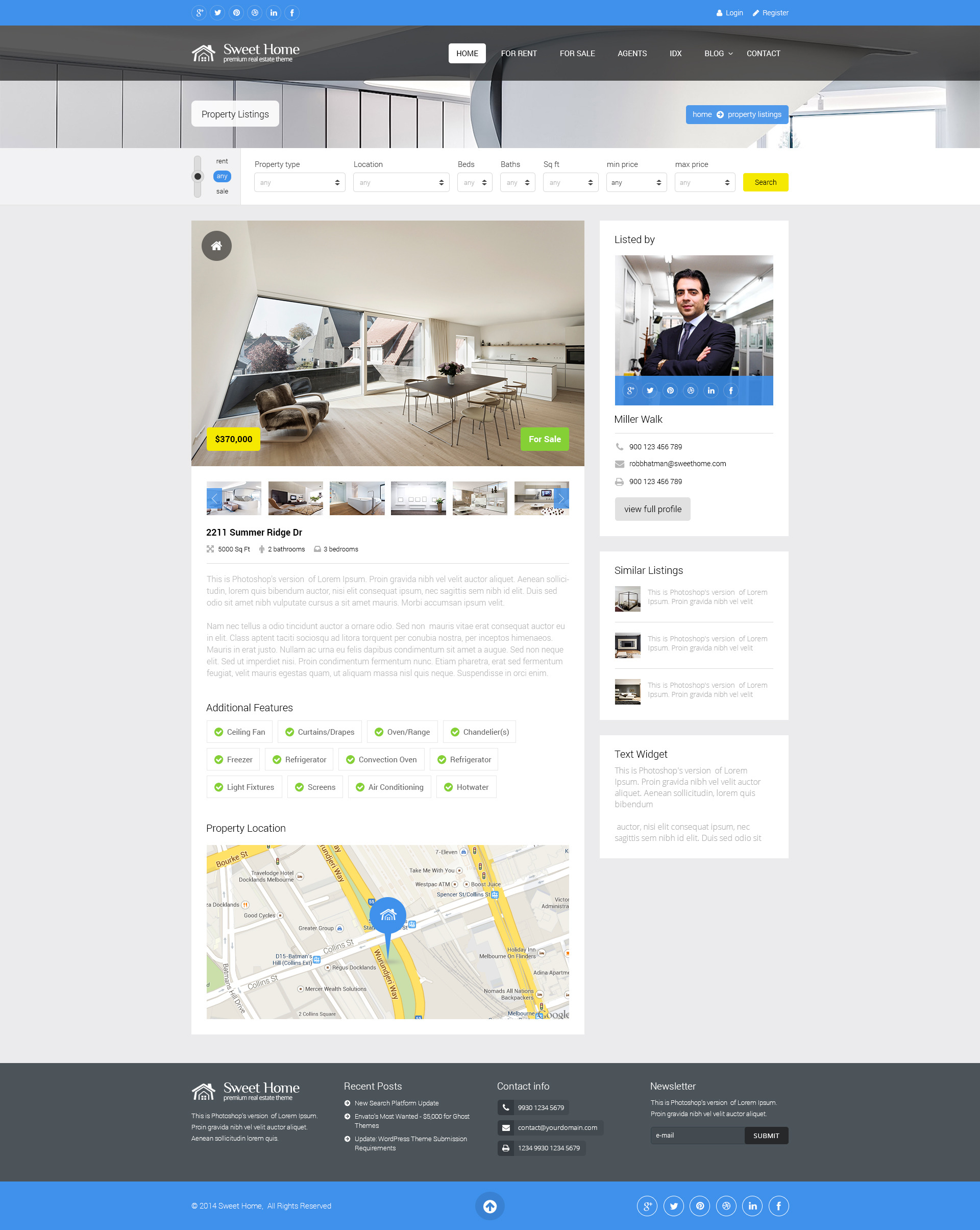 sweethome real estate html template by premiumlayers themeforest screenshots 00 preview jpg screenshots 01 home jpg screenshots 02 property listing jpg