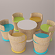 Tutti Frutti chair and table set