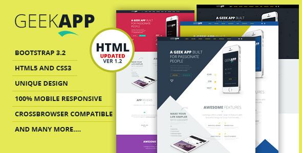 GeekApp - Creative App Landing Page - Apps Technology