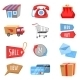 Vector Set of Flat and Colorful Shopping Icons - GraphicRiver Item for Sale