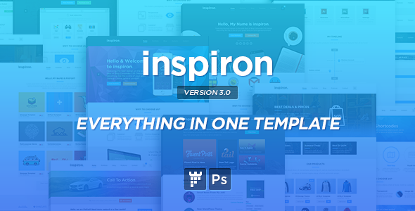 inspiron - Corporate Multipurpose PSD Template - Corporate PSD Templates