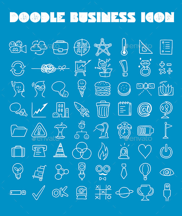 GraphicRiver Doodle Business Icon 8888850