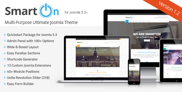 SmartOn - Multi-Purpose Ultimate Joomla Theme - Corporate Joomla