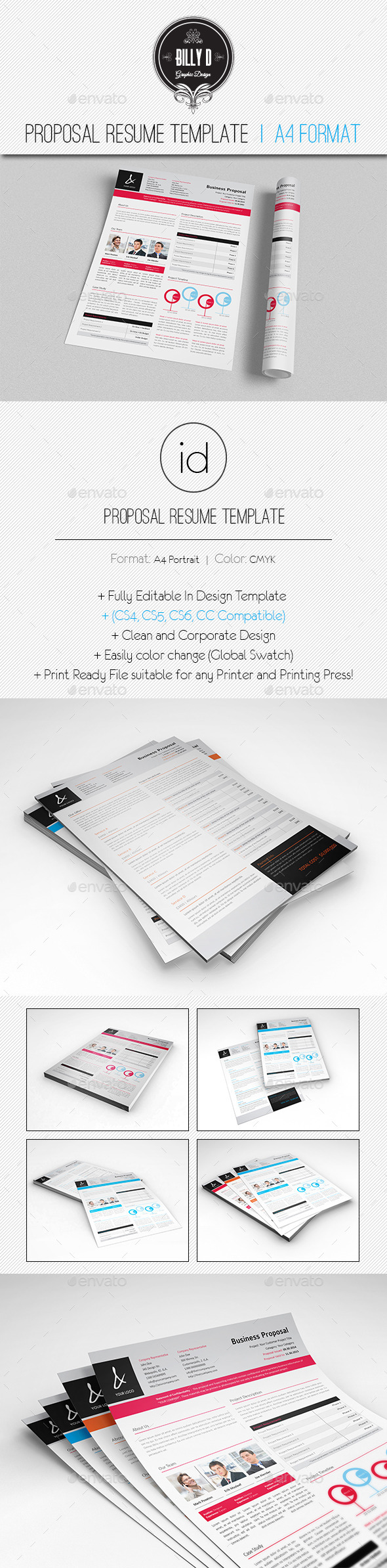 GraphicRiver Proposal Resume Template 8888930