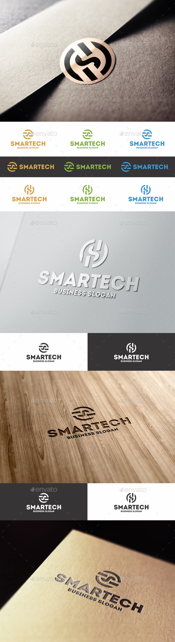 GraphicRiver Smart Technology S Letter Logo 8888944